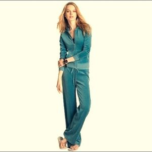 Juicy Couture S Teal Velour Trackpants Track Pants